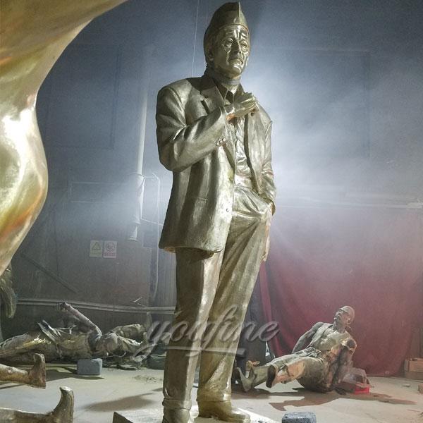 Bronze soldier statues bronze figurines for sale