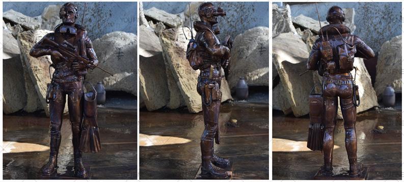 Bronze statue for home decor