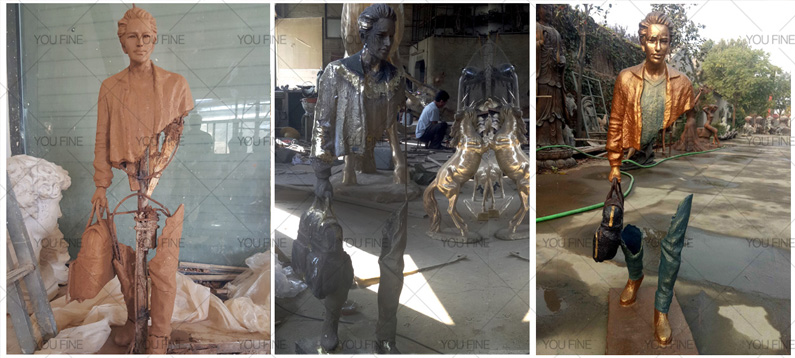 Famous traveler sculpture