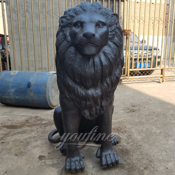 Large bronze lion statues for home