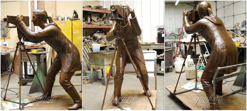 Life size bronze figurines statue