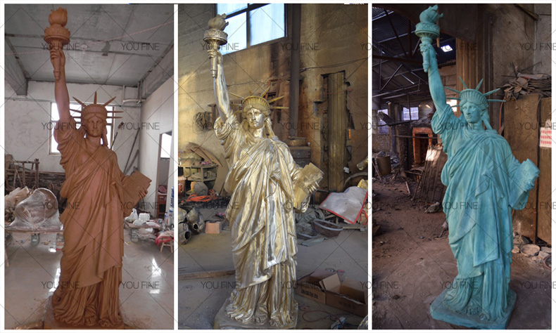 Life size bronze statue of Liberty Enlightening the World for sale (2)