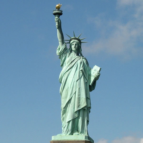 Life size bronze statue of Liberty Enlightening the World for sale