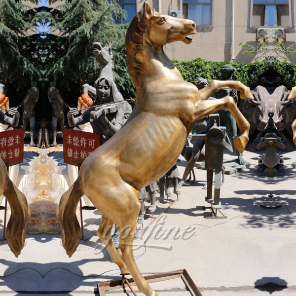 Life size wholesale home decoration antique bronze horse statue