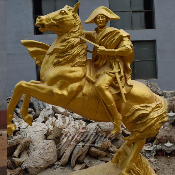 Napoleon riding horse statues