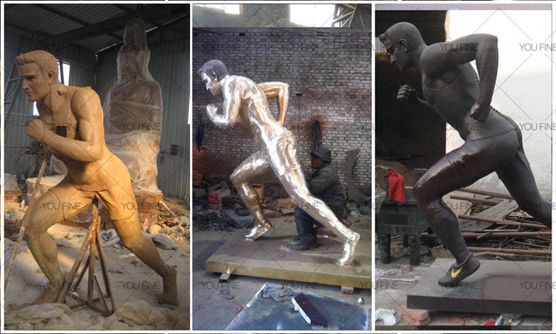 Running man statue