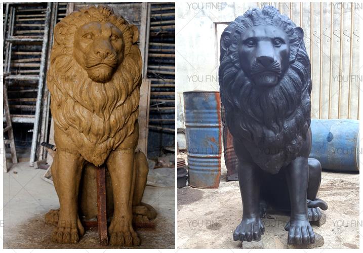 famous bronze lion statue for sale