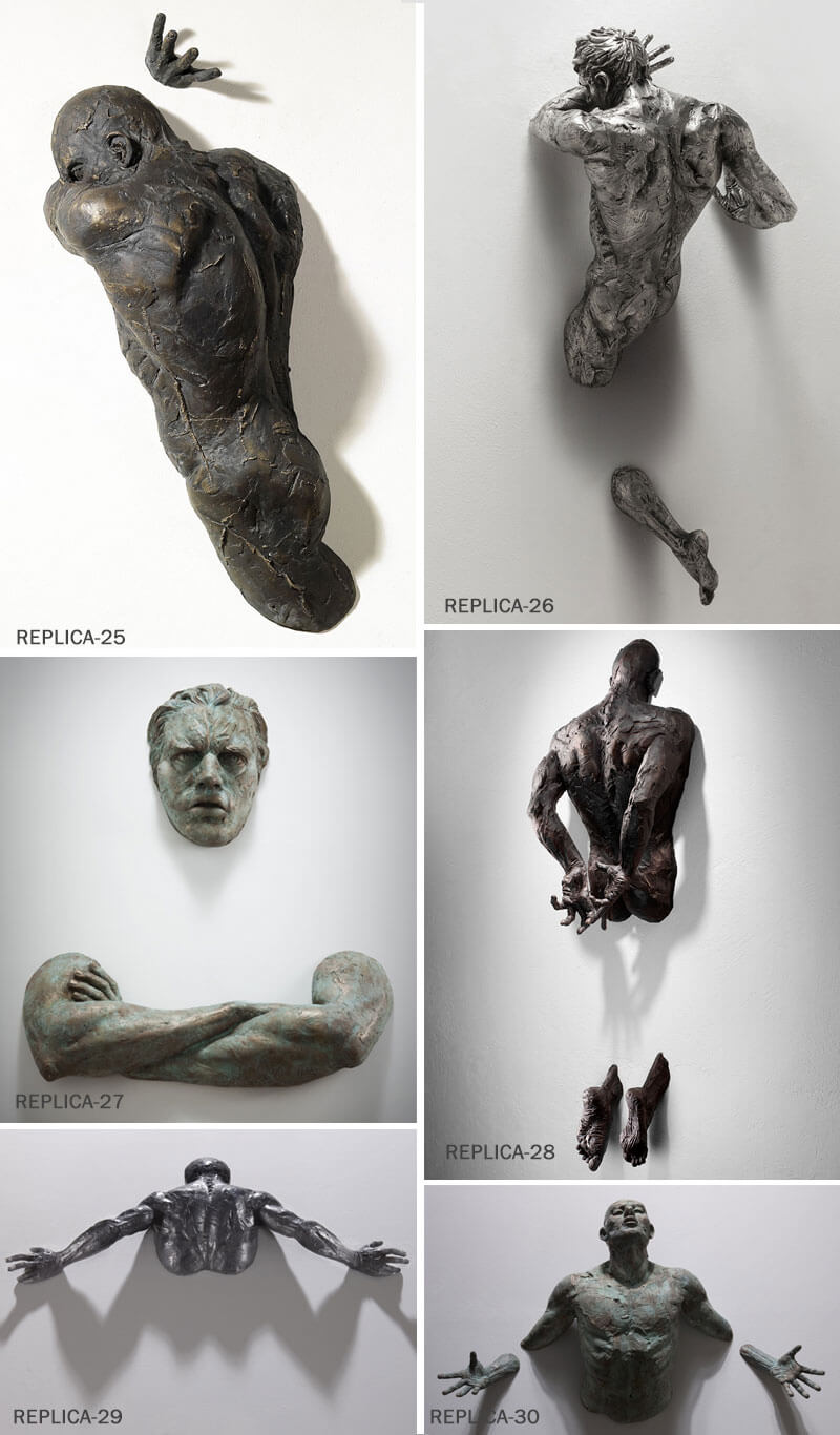 Life Size Matteo Pugliese Metal Bronze Man Sculpture